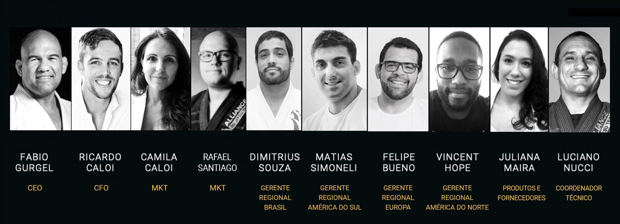 Time da Associação Alliance de jiu Jitsu - Staff