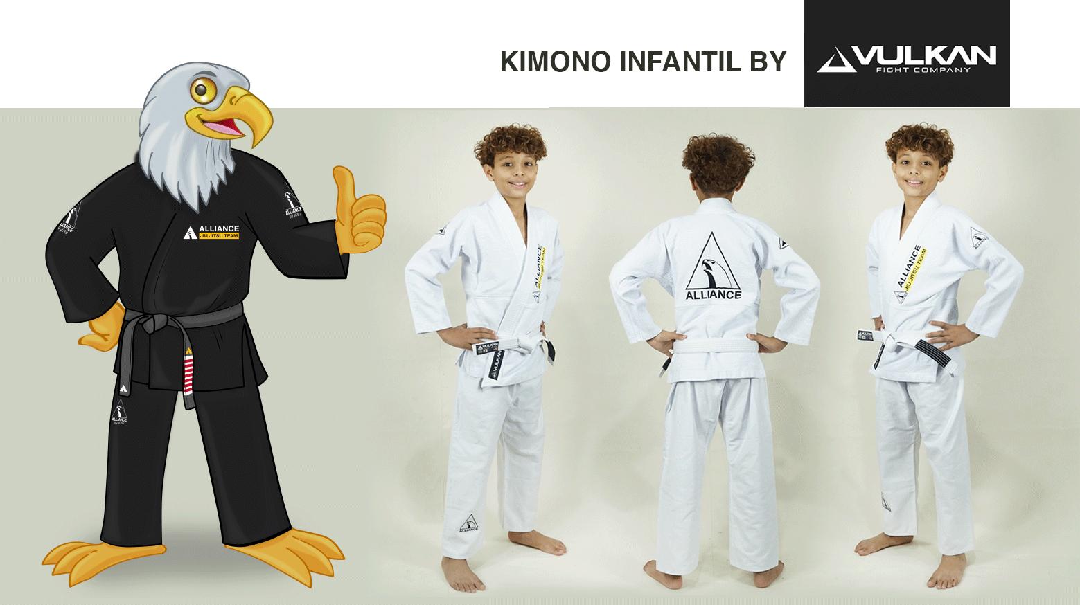 Kimono infantil Alliance by Vulkan preto