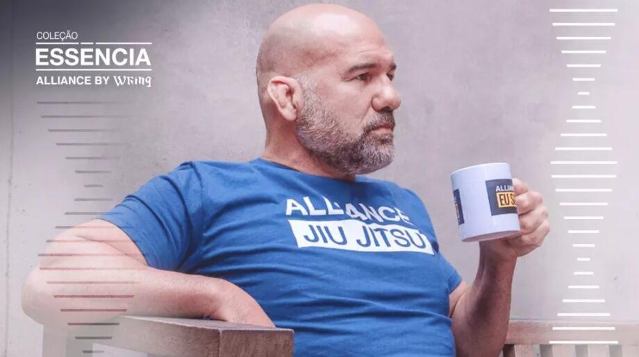 Camiseta Alliance by Wring azul Aliance Jiu Jitsu