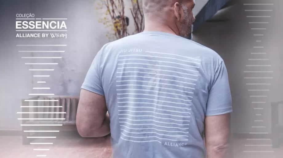 Camiseta Alliance by Wring cor de gelo Alliance Jiu Jitsu